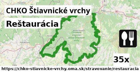 reštaurácia v CHKO Štiavnické vrchy