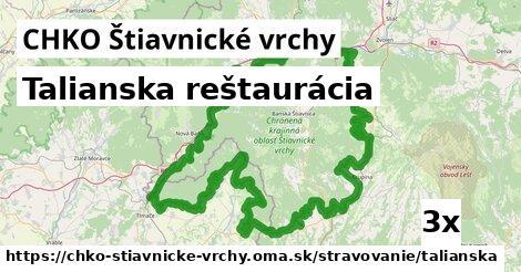 talianska reštaurácia v CHKO Štiavnické vrchy