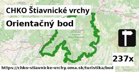 orientačný bod v CHKO Štiavnické vrchy