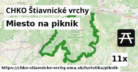 miesto na piknik v CHKO Štiavnické vrchy