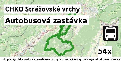 autobusová zastávka v CHKO Strážovské vrchy