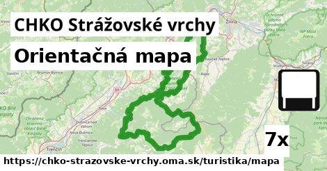 ilustračný obrázok k Orientačná mapa, CHKO Strážovské vrchy