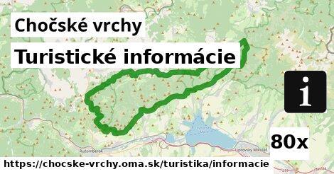 ilustračný obrázok k Turistické informácie, Chočské vrchy