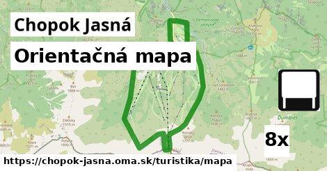 ilustračný obrázok k Orientačná mapa, Chopok Jasná