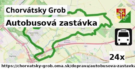 autobusová zastávka v Chorvátsky Grob