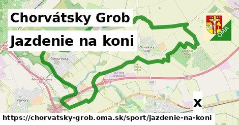 jazdenie na koni v Chorvátsky Grob