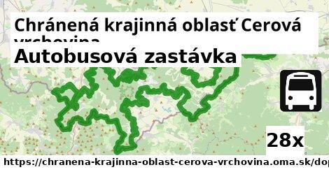 autobusová zastávka v Chránená krajinná oblasť Cerová vrchovina