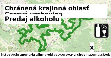 predaj alkoholu v Chránená krajinná oblasť Cerová vrchovina
