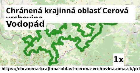 vodopád v Chránená krajinná oblasť Cerová vrchovina
