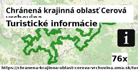 turistické informácie v Chránená krajinná oblasť Cerová vrchovina