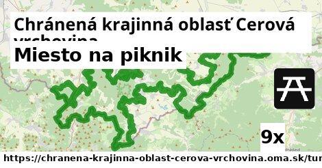 miesto na piknik v Chránená krajinná oblasť Cerová vrchovina