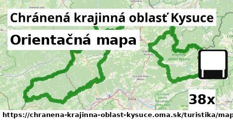 ilustračný obrázok k Orientačná mapa, Chránená krajinná oblasť Kysuce