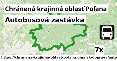 autobusová zastávka v Chránená krajinná oblasť Poľana