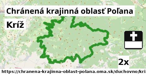 kríž v Chránená krajinná oblasť Poľana