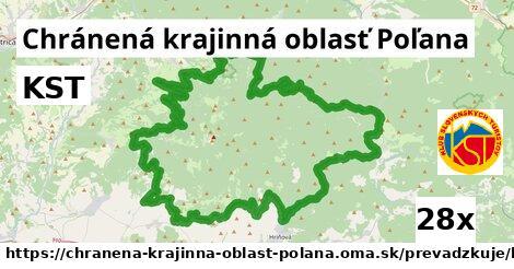 KST v Chránená krajinná oblasť Poľana