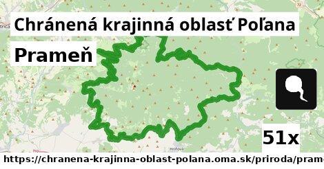 prameň v Chránená krajinná oblasť Poľana