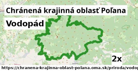 vodopád v Chránená krajinná oblasť Poľana