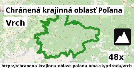 vrch v Chránená krajinná oblasť Poľana