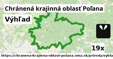 výhľad v Chránená krajinná oblasť Poľana