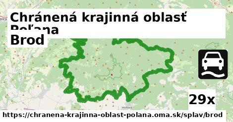 brod v Chránená krajinná oblasť Poľana