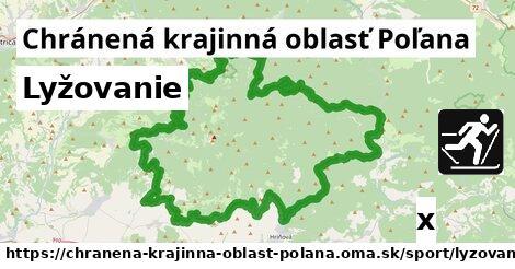 lyžovanie v Chránená krajinná oblasť Poľana