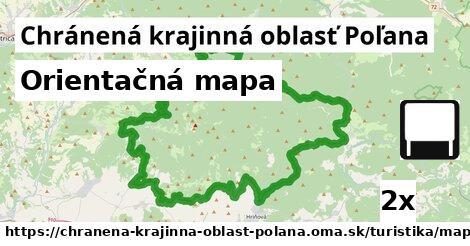 orientačná mapa v Chránená krajinná oblasť Poľana