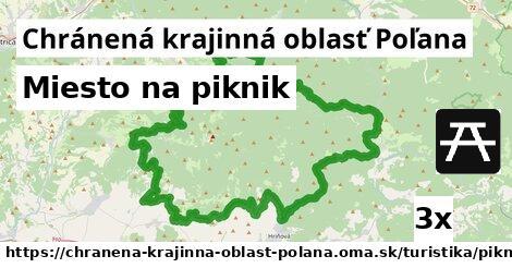 miesto na piknik v Chránená krajinná oblasť Poľana