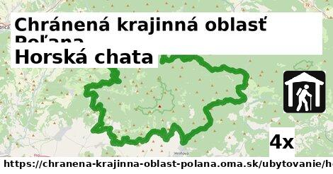horská chata v Chránená krajinná oblasť Poľana