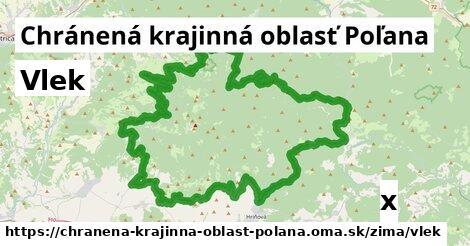 vlek v Chránená krajinná oblasť Poľana