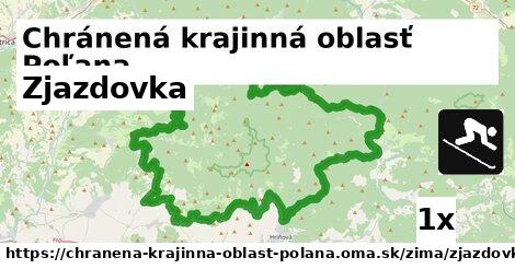 zjazdovka v Chránená krajinná oblasť Poľana