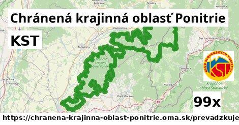 KST v Chránená krajinná oblasť Ponitrie