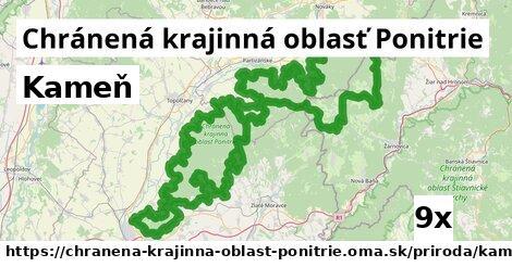kameň v Chránená krajinná oblasť Ponitrie