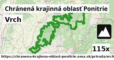 vrch v Chránená krajinná oblasť Ponitrie