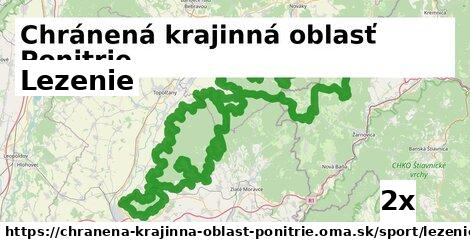 lezenie v Chránená krajinná oblasť Ponitrie