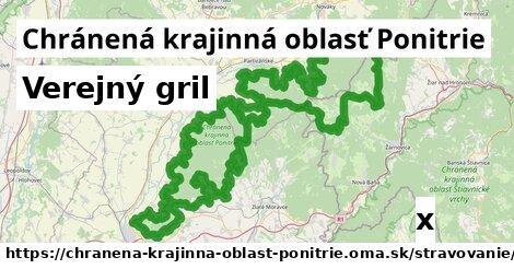 verejný gril v Chránená krajinná oblasť Ponitrie