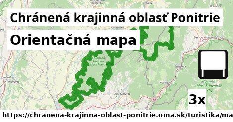 orientačná mapa v Chránená krajinná oblasť Ponitrie