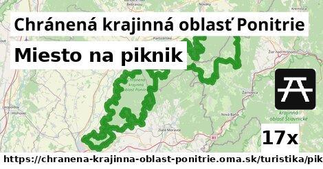 miesto na piknik v Chránená krajinná oblasť Ponitrie