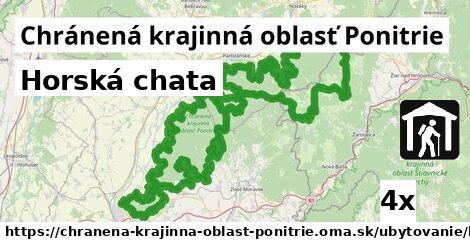 horská chata v Chránená krajinná oblasť Ponitrie