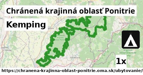kemping v Chránená krajinná oblasť Ponitrie