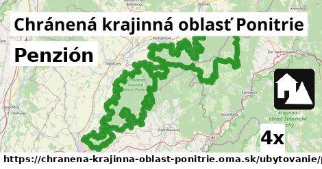 penzión v Chránená krajinná oblasť Ponitrie
