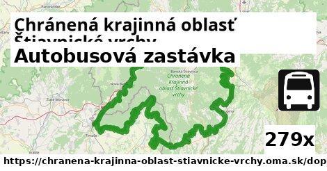 ilustračný obrázok k Autobusová zastávka, Chránená krajinná oblasť Štiavnické vrchy