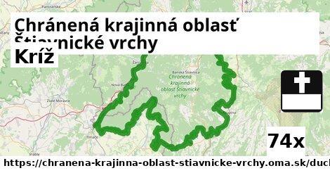 kríž v Chránená krajinná oblasť Štiavnické vrchy