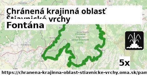 fontána v Chránená krajinná oblasť Štiavnické vrchy