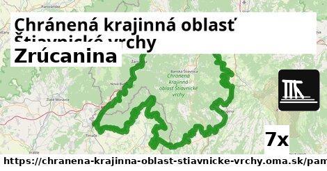 zrúcanina v Chránená krajinná oblasť Štiavnické vrchy