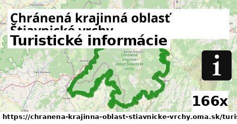 turistické informácie v Chránená krajinná oblasť Štiavnické vrchy
