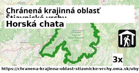horská chata v Chránená krajinná oblasť Štiavnické vrchy
