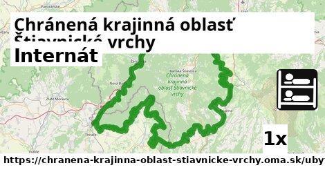 internát v Chránená krajinná oblasť Štiavnické vrchy