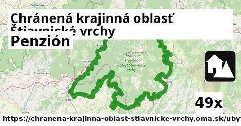 penzión v Chránená krajinná oblasť Štiavnické vrchy