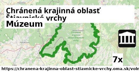 múzeum v Chránená krajinná oblasť Štiavnické vrchy