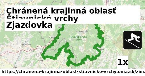 zjazdovka v Chránená krajinná oblasť Štiavnické vrchy
